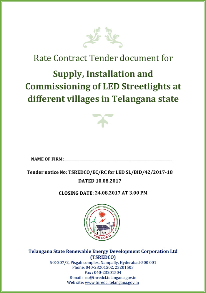 TSREDCO-Solar-Street-Light-Tender-1